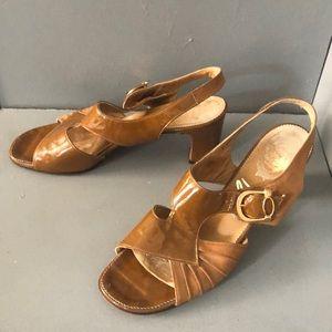Mod 60s Patent & suede Vintage Heels sandals